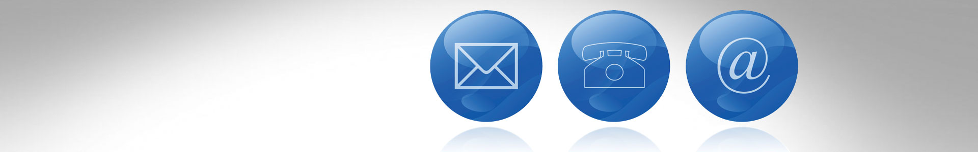 email phone and at symbols