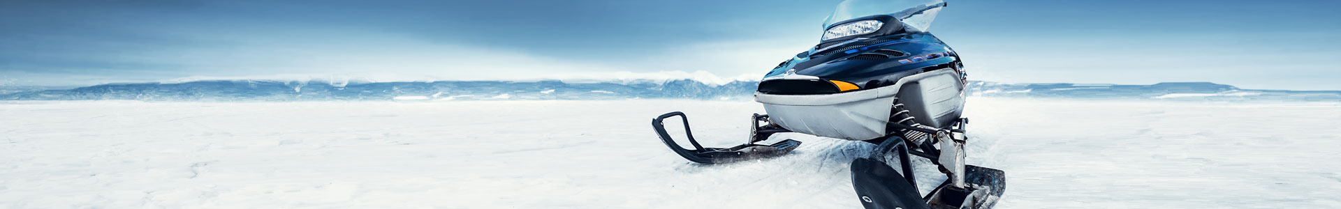 snowmobile in the winter